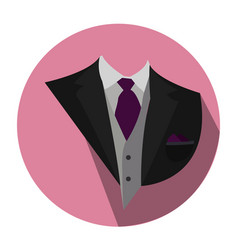 Isolated wedding clothes vector