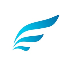 Letter e wing flag logo icon design template vector