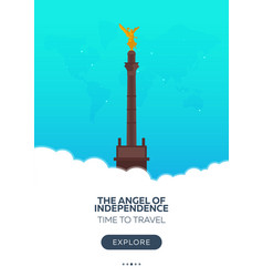 Mexico the angel of independence time to travel vector