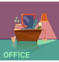 Office retro design vector