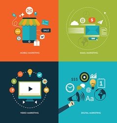 online marketing concept vector image