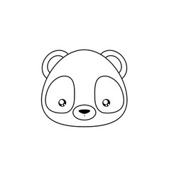 panda drawing face vector image vector image