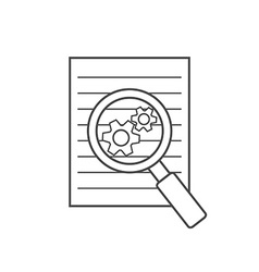 Preparation business contract linear icon vector