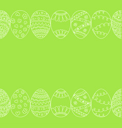 Seamless border of hand drawn easter egg vector