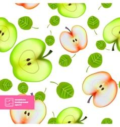 Slice of Apple Seamless Pattern vector image