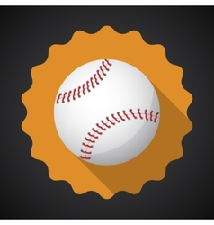 Sport Ball Baseball Flat icon background vector image vector image