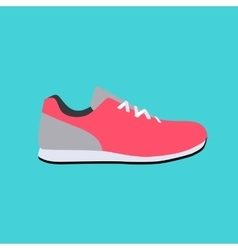 Sport sneakers icon flat vector