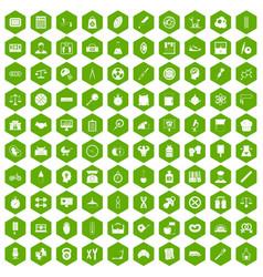 100 libra icons hexagon green vector