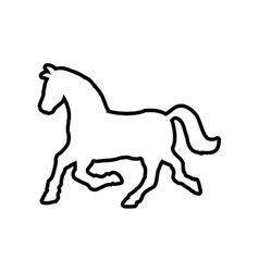Horse animal animal silhouette icon vector