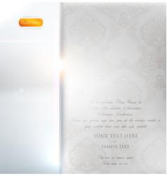Classical white floral invitation vector