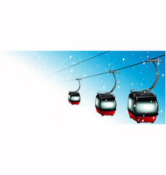 Gondolas on cableways vector