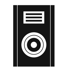Music speaker icon simple style vector