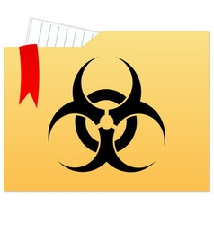 File folder with bio hazard sign vector image