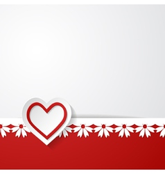 wedding invitation or a Valentines card vector image