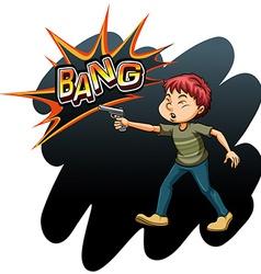 A boy with a gun vector image