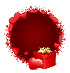 Heart gift and frame vector