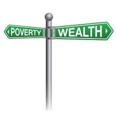 Poverty versus wealth concept vector