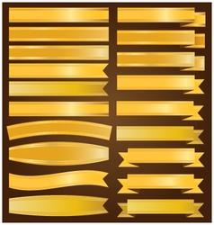 Gold ribbon and banner vector