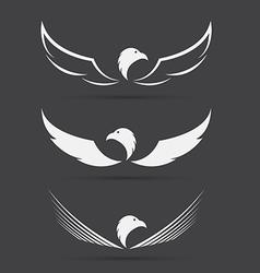 image of an eagle design on black background vector image