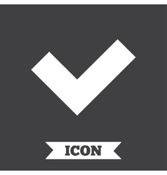 Check sign icon yes button vector