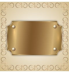 Abstract precious metal golden award plate vector