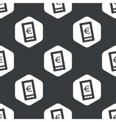 Black hexagon euro screen pattern vector image vector image