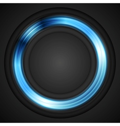 Blue glowing circle logo vector image vector image