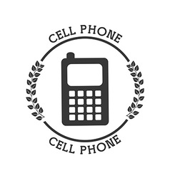 cellphone pictogram vector image
