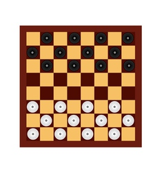 checkers vector image
