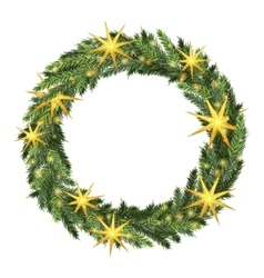 Christmas wreath template vector image