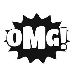 comic boom omg icon simple black style vector image