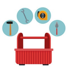 Construction toolbox service ilustration vector