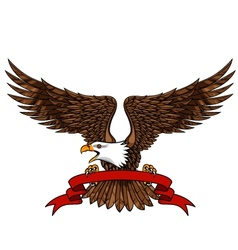 eagle with emblem vector image