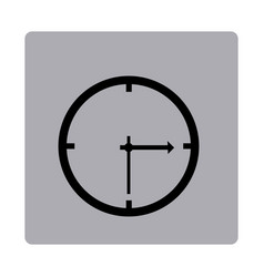 figure emblem clock icon vector image