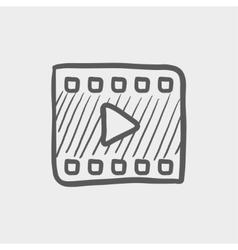 Film strip sketch icon vector