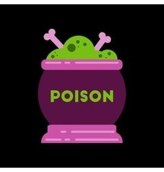 flat icon on stylish background potion cauldron vector image