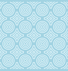 Geometric round shape seamless pattern vector