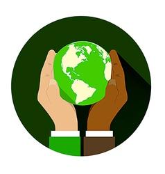 Globe Hand 04 vector image