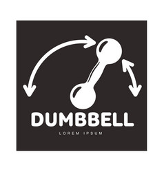 graphic logo template with iron dumbbell and vector image vector image