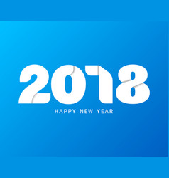 happy new year 2018 text design modern text with vector image