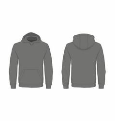 Mens black hoodie vector