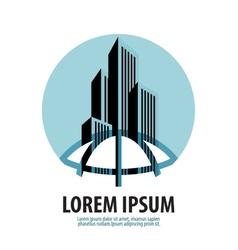 Metropolis logo design template building vector