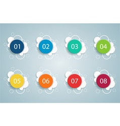 Numbered bullet point bubble infographics 2 vector
