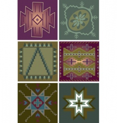 primitive tribal patterns vector image vector image