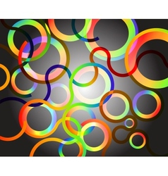 rainbow circles background vector image vector image