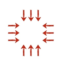 Red grunge arrows vector image vector image