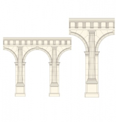 set of architecture detail vector image vector image