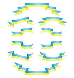 Set Ukrainian ribbons vector image vector image