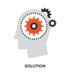 solution flat concept vector image