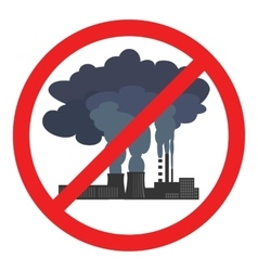 Stop air pollution sign vector
